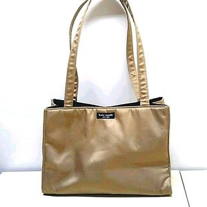 Kate Spade Shiny Gold Silky Tote Bag